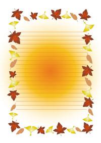 秋に使える便箋のテンプレート ... : 封筒 ダウンロード 無料 かわいい : 無料